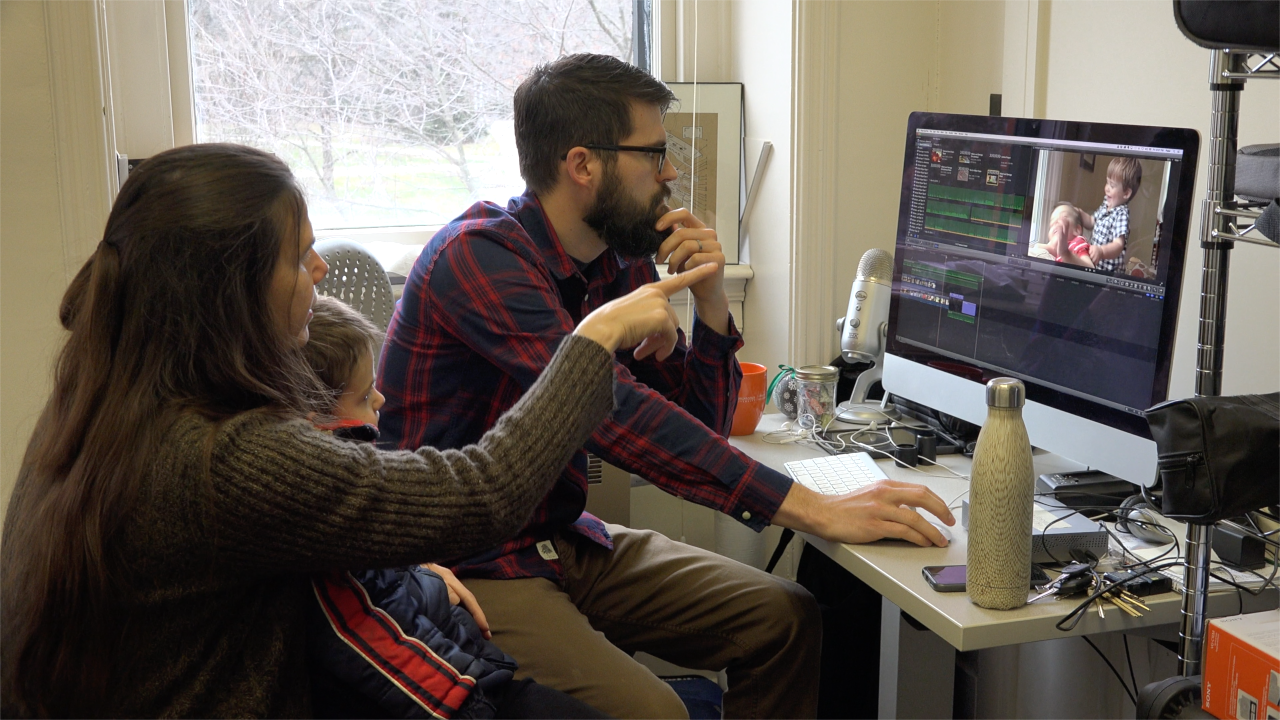 Working On Color Correction With The Film's Assistant Editor, Peter Johnston