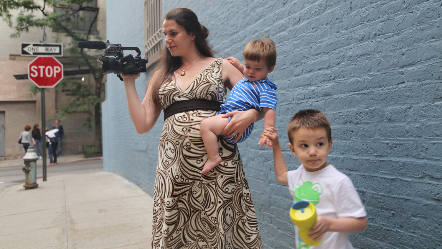Director Alexandra Hidalgo Juggling Her Sons And Camera-duty