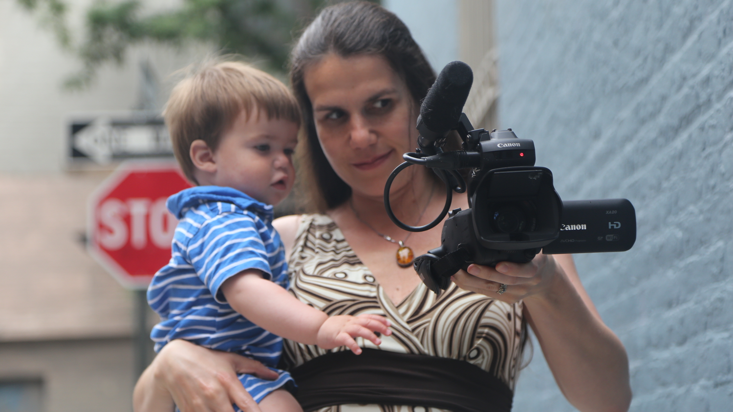 Director Alexandra Hidalgo Shows Santiago How To Use The Camera