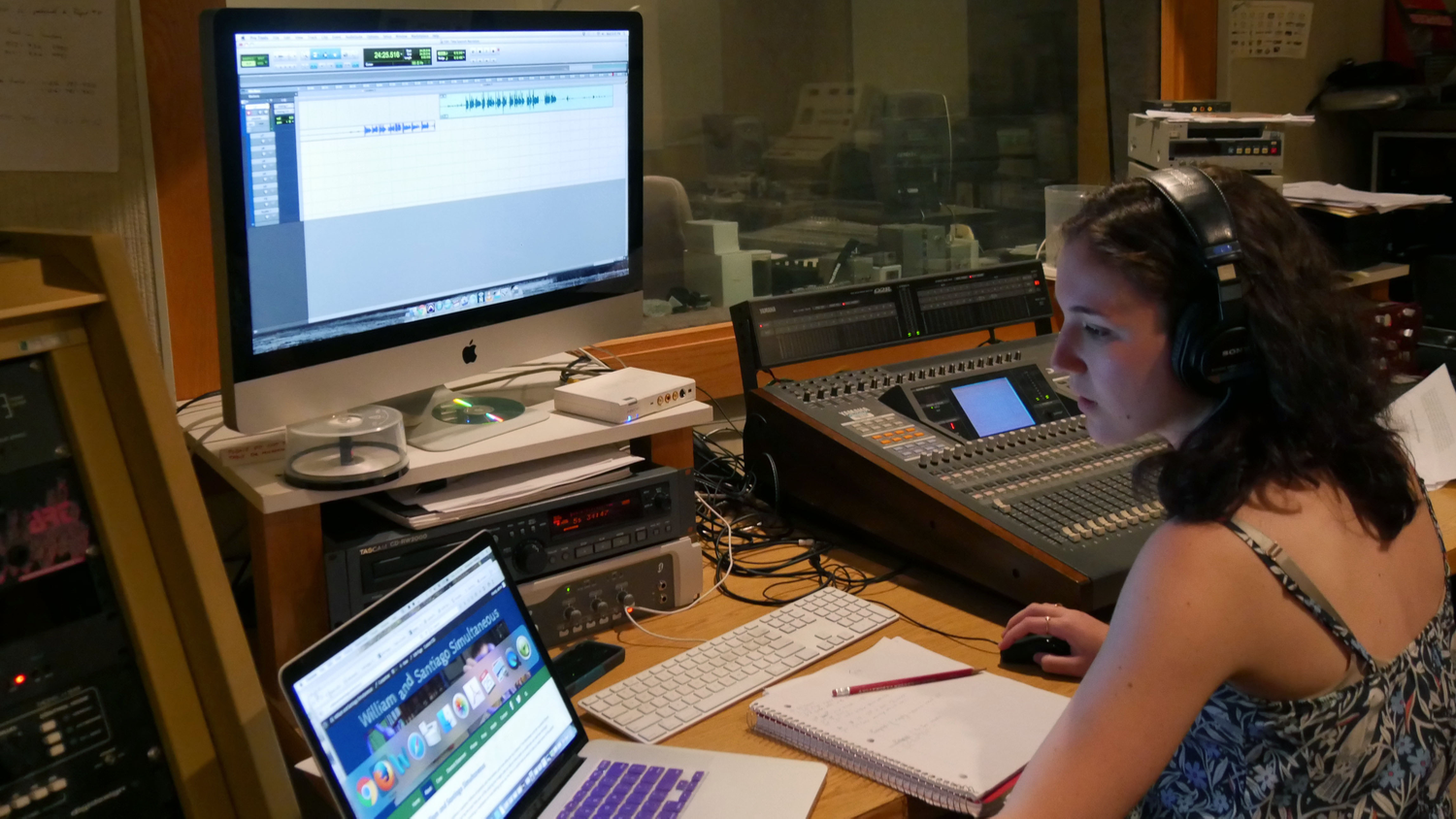 Sound Editor Sarah Shaw Finalizing The Film's Mix